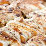 Caramel Apple Sheet Cake Recipe ---- Family Fresh Meals