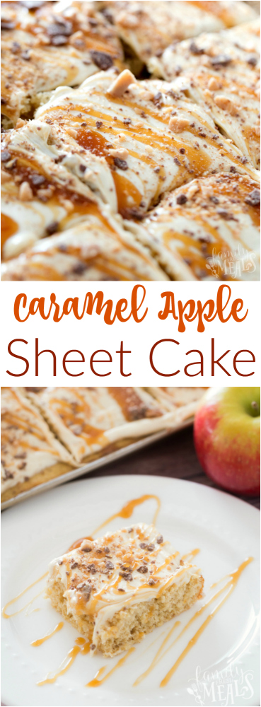Caramel Apple Sheet Cake Recipe - Family Fresh Meals