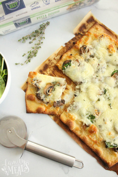 Caramelized Onion and Mushroom Pizza - Family Fresh Meals