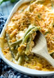 Cheesy Ham Green Bean Casserole