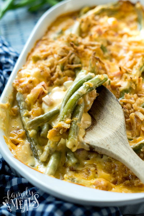 Cheesy Ham Green Bean Casserole - Step 6