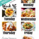 Easy Weekly Meal Plan Week 48