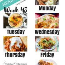 Easy Weekly Meal Plan Week 48