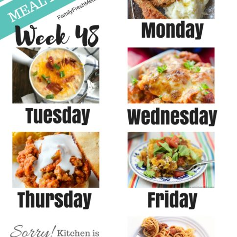Easy Weekly Meal Plan Week 48 - Family Fresh Meals