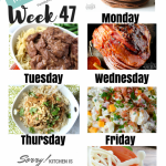Easy Weekly Meal Plan Week 47