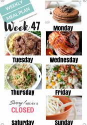 Easy Weekly Meal Plan Week 47