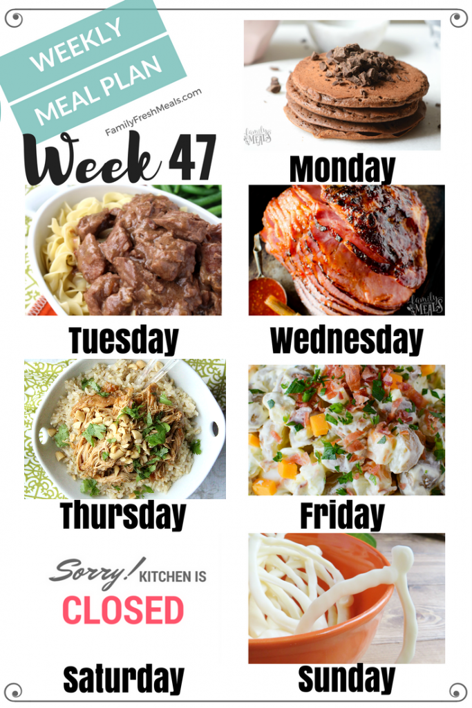 Easy Weekly Meal Plan Week 47 - Family Fresh Meals