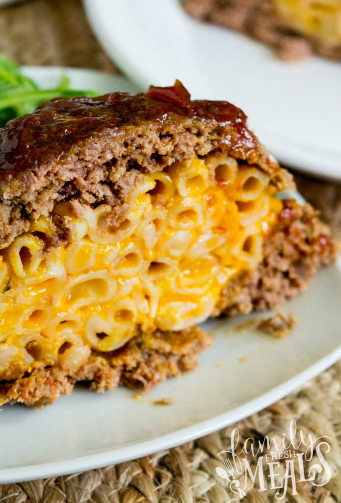 Mac and Cheese Stuffed Meatloaf Recipe - Family Fresh Meals