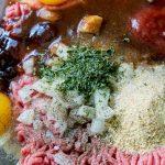Mac and Cheese Stuffed Meatloaf - Step 1