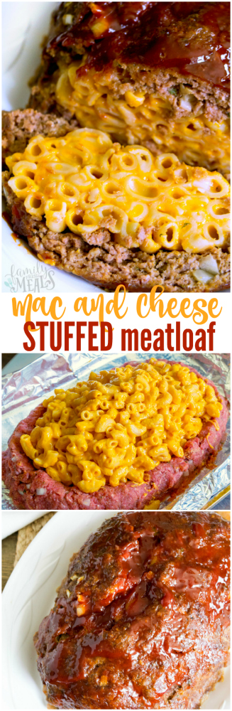 Mac and Cheese Stuffed Meatloaf - Yummy Recipe - Family Fresh Meals