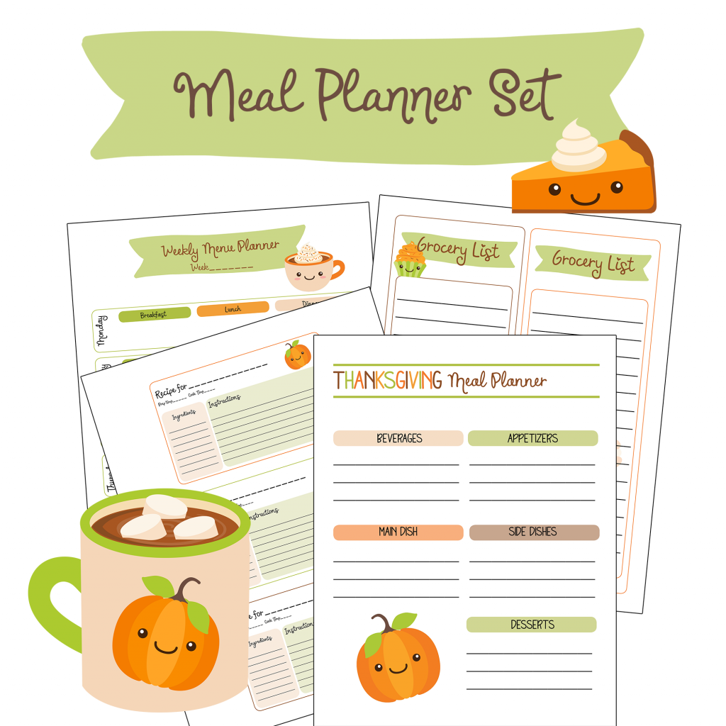 photograph regarding Thanksgiving Planner Printable named Cost-free Printable Tumble Thanksgiving Evening meal Planner - Household Fresh new