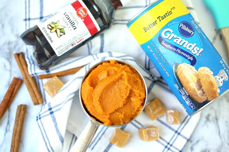 Easy Pumpkin Caramel Pull Apart Bread - Step 1