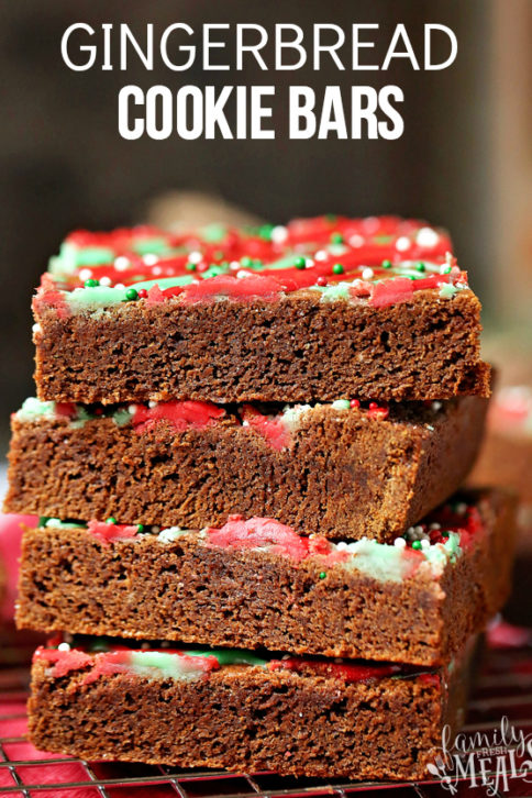 Gingerbread Cookie Bars -Family Fresh Meals