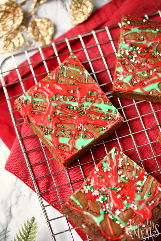 Gingerbread Cookie Bars - Family Fresh Meals