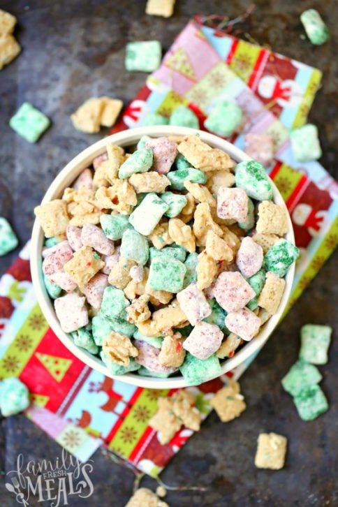 Holiday Muddy Buddies Chex Mix Recipe - Family Fresh Meals