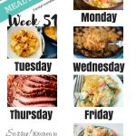 Easy Weekly Meal Plan Week 51