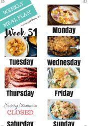 Easy Weekly Meal Plan Week 51