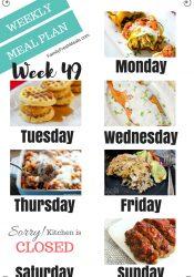 Easy Weekly Meal Plan Week 49