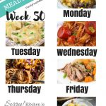 Easy Weekly Meal Plan Week 50