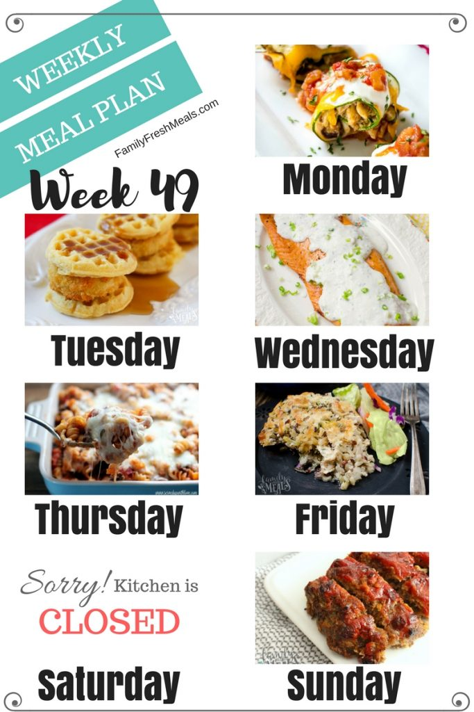 Easy Weekly Meal Plan Week 49 - Family Fresh Meals