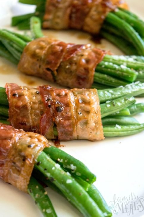 Bacon Wrapped Green Bean Bundles - Family Fresh Meals
