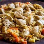 One Pot Winter Vegetables Chicken and Rice