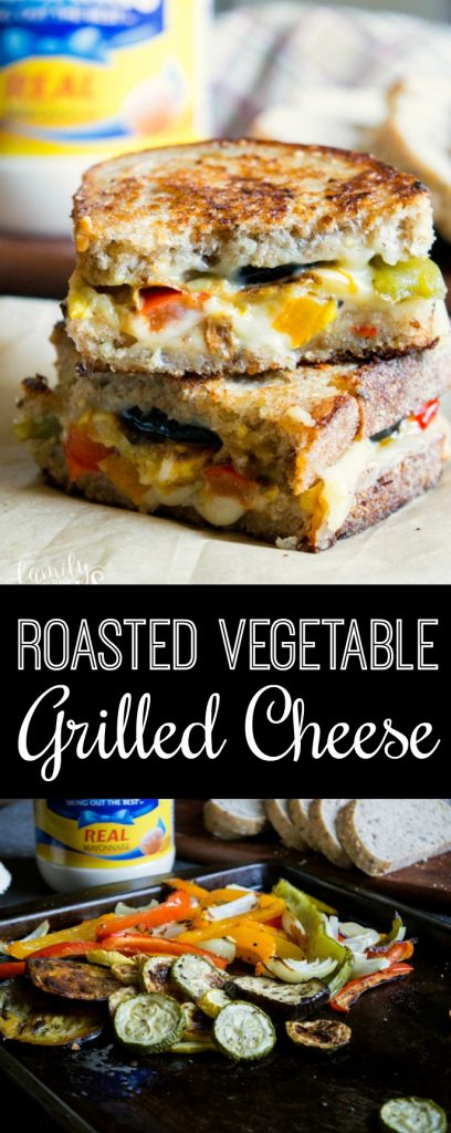 Roasted Vegetable Grilled Cheese - Family Fresh Meals