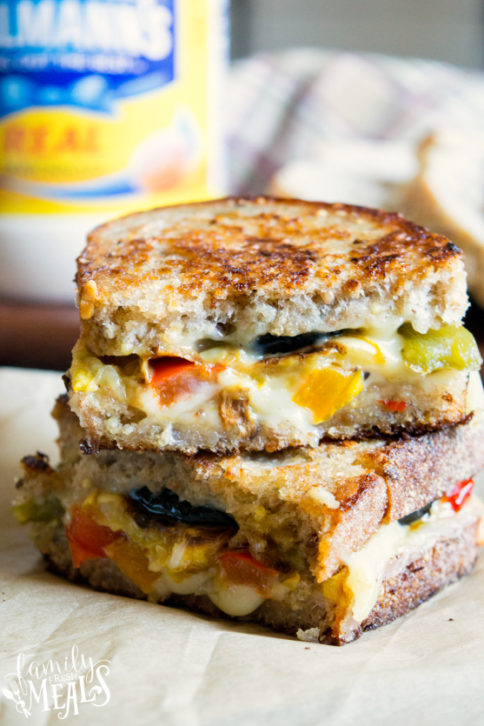 Roasted Vegetable Grilled Cheese - Family Fresh Meals Recipe