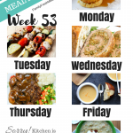 Easy Weekly Meal Plan Week 53
