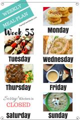 Easy Weekly Meal Plan Week 53