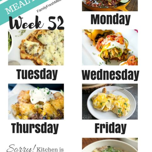 Easy Weekly Meal Plan Week 50 - Family Fresh Meals