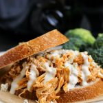 Crockpot Buffalo Chicken Sandwiches