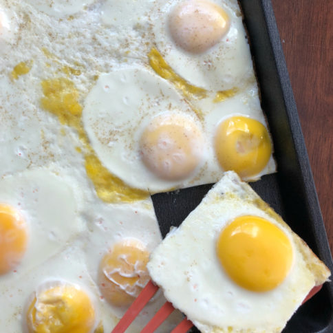 Sheet Pan Eggs - How too cook eggs in a sheet pan