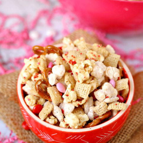 Valentines Snack Mix Free Printables - Family Fresh Meals Served in a bowl or back it up with the free printable!