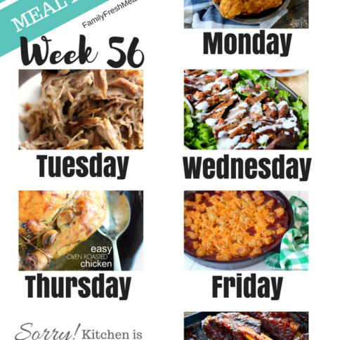 Easy Weekly Meal Plan Week 56 - Family Fresh Meals