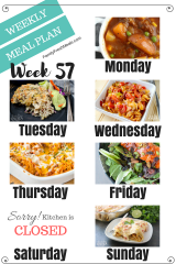 Easy Weekly Meal Plan Week 57