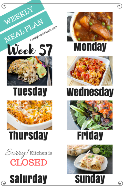 Easy Weekly Meal Plan Week 57 - Family Fresh Meals