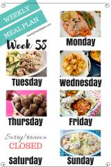 Easy Weekly Meal Plan Week 58