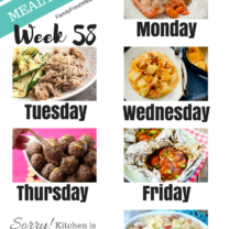 Easy Weekly Meal Plan Week 58