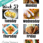 Easy Weekly Meal Plan Week 59