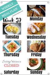 Easy Weekly Meal Plan Week 59