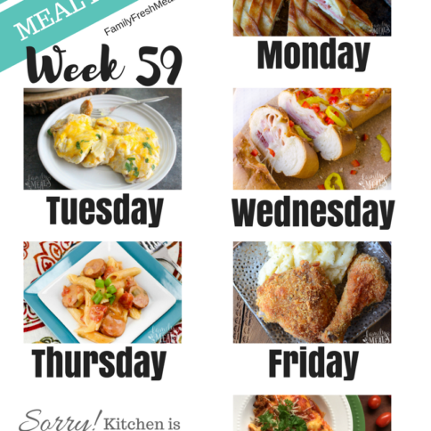 Easy Weekly Meal Plan Week 59 - Family Fresh Meals