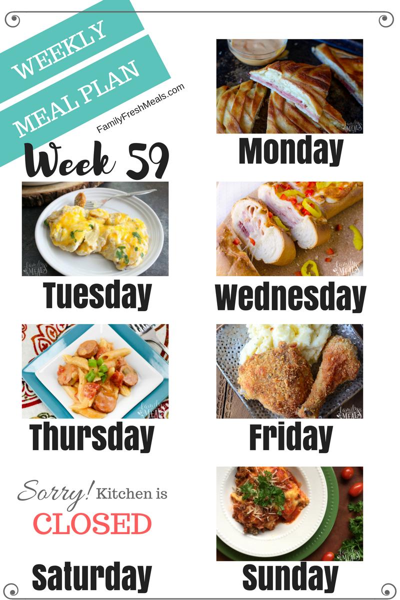 Easy Weekly Meal Plan Week 59 Family Fresh Meals