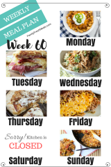 Easy Weekly Meal Plan Week 60 - Family Fresh Meals