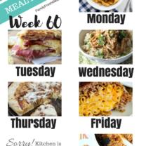 Easy Weekly Meal Plan Week 60