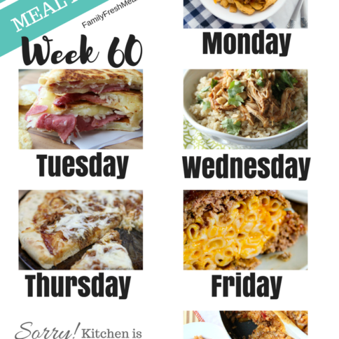 Easy Weekly Meal Plan Week 60 - Family Fresh Meals