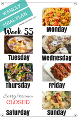 Easy Weekly Meal Plan Week 55