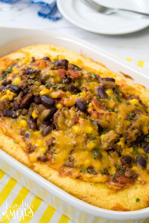 Chili Stuffed Cornbread Casserole - Family Fresh Meals Recipe --