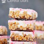 No Bake Chocolate Caramel Cereal Bars