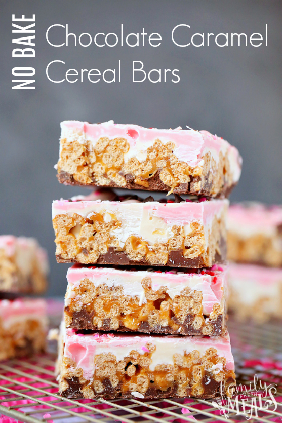 Chocolate Caramel Cereal Bars -- Family Fresh Meals
